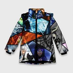 Куртка зимняя для девочки ANIME цвета 3D-черный — фото 1