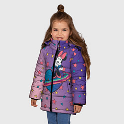 Детская зимняя куртка для девочки с принтом Минни Маус, цвет: 3D-черный, артикул: 10250063506065 — фото 2
