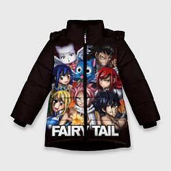 Куртка зимняя для девочки FAIRY TAIL ХВОСТ ФЕИ цвета 3D-черный — фото 1