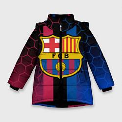 Куртка зимняя для девочки BARSELONA цвета 3D-черный — фото 1
