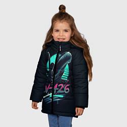 Куртка зимняя для девочки The Alien цвета 3D-черный — фото 2