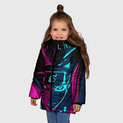Куртка зимняя для девочки Неоновый НАРУТО цвета 3D-черный — фото 2