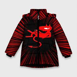 Куртка зимняя для девочки Disenchantment цвета 3D-черный — фото 1