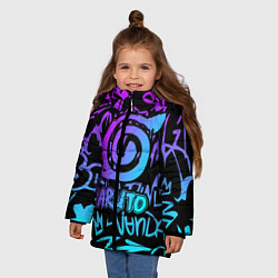 Куртка зимняя для девочки NARUTO цвета 3D-черный — фото 2