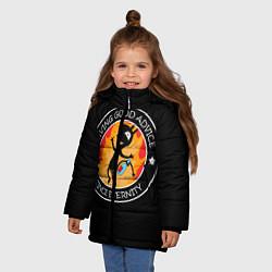Куртка зимняя для девочки ЛУЧШИЙ СОВЕТЧИК В МИРЕ цвета 3D-черный — фото 2