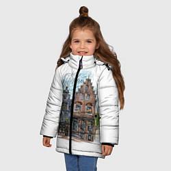 Куртка зимняя для девочки Амстердам цвета 3D-черный — фото 2