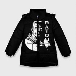 Куртка зимняя для девочки Бато цвета 3D-черный — фото 1
