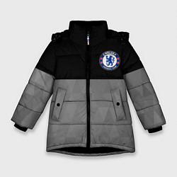 Куртка зимняя для девочки Chelsea London цвета 3D-черный — фото 1