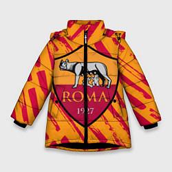 Куртка зимняя для девочки ROMA цвета 3D-черный — фото 1