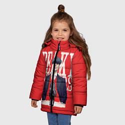 Куртка зимняя для девочки Острые козырьки цвета 3D-черный — фото 2