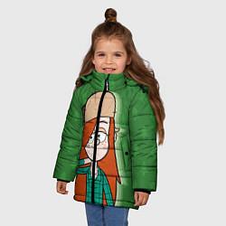 Куртка зимняя для девочки Венди Кордрой цвета 3D-черный — фото 2