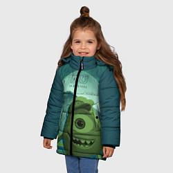 Куртка зимняя для девочки Mike Wazowski цвета 3D-черный — фото 2