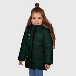 Куртка зимняя для девочки Jaguar Мята Style цвета 3D-черный — фото 2