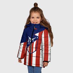 Куртка зимняя для девочки Atletico Madrid цвета 3D-черный — фото 2
