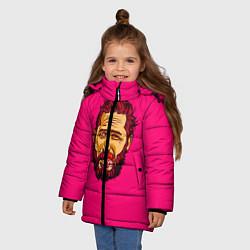 Куртка зимняя для девочки ХАРДИ цвета 3D-черный — фото 2