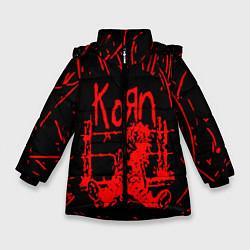 Куртка зимняя для девочки Korn цвета 3D-черный — фото 1