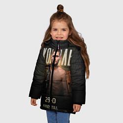 Куртка зимняя для девочки Хабиб Нурмагомедов - Король цвета 3D-черный — фото 2