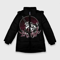 Куртка зимняя для девочки Evangelion цвета 3D-черный — фото 1