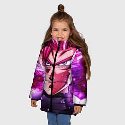 Куртка зимняя для девочки Super Saiyan Rose цвета 3D-черный — фото 2