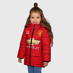 Куртка зимняя для девочки MANCHESTER UNITED 2021 - HOME цвета 3D-черный — фото 2