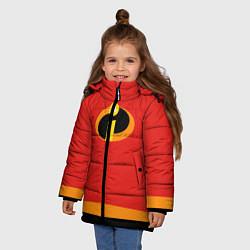 Куртка зимняя для девочки Суперсемейка ж цвета 3D-черный — фото 2