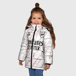 Куртка зимняя для девочки ARSENAL 2021 - ГОСТЕВАЯ цвета 3D-черный — фото 2