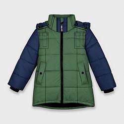 Куртка зимняя для девочки Ниндзя NARUTO на спине цвета 3D-черный — фото 1