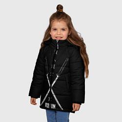 Куртка зимняя для девочки Ronin цвета 3D-черный — фото 2