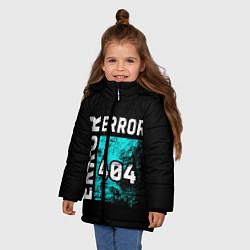 Куртка зимняя для девочки ERROR 404 цвета 3D-черный — фото 2