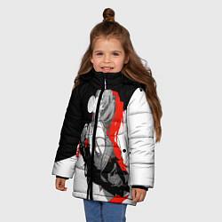 Куртка зимняя для девочки Asuka Langley Evangelion цвета 3D-черный — фото 2
