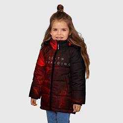 Куртка зимняя для девочки DEATH STRANDING S цвета 3D-черный — фото 2
