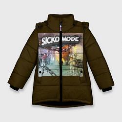 Куртка зимняя для девочки Travis scott sicko mode цвета 3D-черный — фото 1