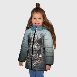 Детская зимняя куртка для девочки с принтом Master, цвет: 3D-черный, артикул: 10278347906065 — фото 2