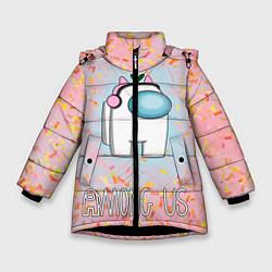 Куртка зимняя для девочки Among Us Девочкам цвета 3D-черный — фото 1