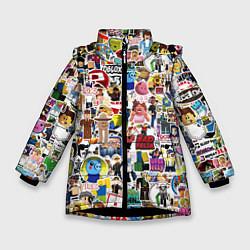 Куртка зимняя для девочки Roblox Роблокс цвета 3D-черный — фото 1