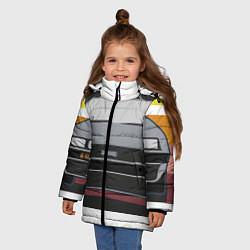 Куртка зимняя для девочки Back to the Future цвета 3D-черный — фото 2