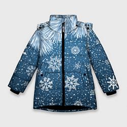Куртка зимняя для девочки Снежное Настроенние цвета 3D-черный — фото 1