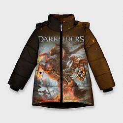 Куртка зимняя для девочки Darksiders Z цвета 3D-черный — фото 1