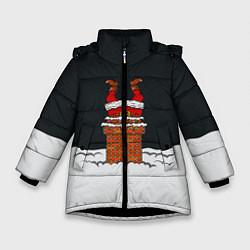 Куртка зимняя для девочки С Новым Годом! цвета 3D-черный — фото 1