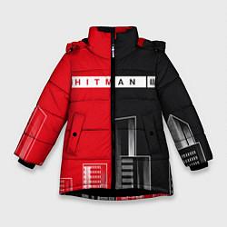 Куртка зимняя для девочки Hitman III - Город цвета 3D-черный — фото 1