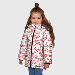 Куртка зимняя для девочки Love flight цвета 3D-черный — фото 2
