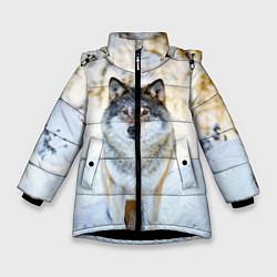 Куртка зимняя для девочки Я зимой цвета 3D-черный — фото 1