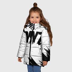 Детская зимняя куртка для девочки с принтом Dayz, цвет: 3D-черный, артикул: 10287511506065 — фото 2