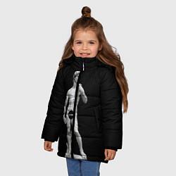 Куртка зимняя для девочки David Censored цвета 3D-черный — фото 2