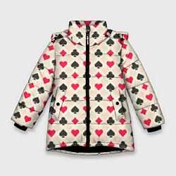 Куртка зимняя для девочки Масти цвета 3D-черный — фото 1