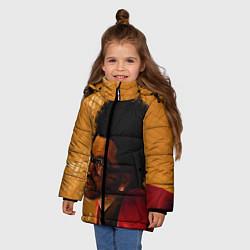 Куртка зимняя для девочки After Hours - The Weeknd цвета 3D-черный — фото 2