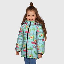 Куртка зимняя для девочки Путешествие хиппи цвета 3D-черный — фото 2