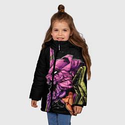 Куртка зимняя для девочки Evangelion Eva 01 цвета 3D-черный — фото 2