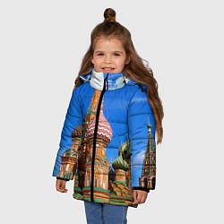 Куртка зимняя для девочки Храм Василия Блаженного цвета 3D-черный — фото 2