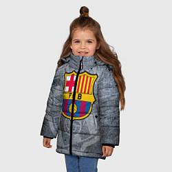 Детская зимняя куртка для девочки с принтом Barcelona, цвет: 3D-черный, артикул: 10063906106065 — фото 2